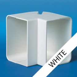 EIN70 90 Degree White Economy External Elbow
