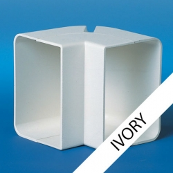 EIN105 90 Degree Ivory Economy External Elbow