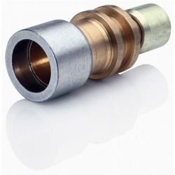 """5/8""""-1/2"""" Reducing Straight Brass Connector"""
