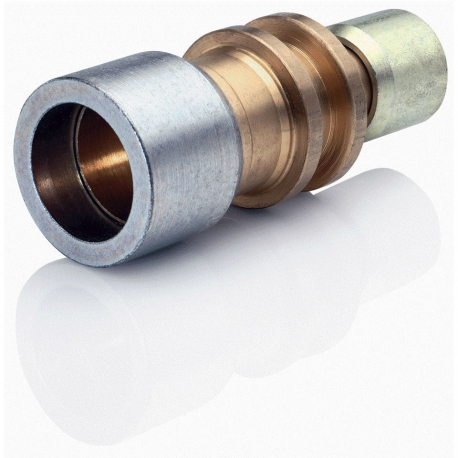 """1.1/8""""-1/2"""" Reducing Straight Brass Connector"""