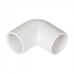 32mm ABS 90 Deg Bend White