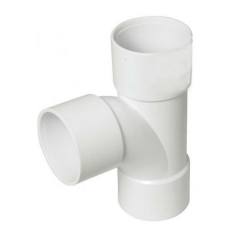 40mm ABS Swept Tee White