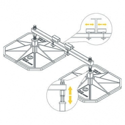 HD Beam Support 450mm Feet with Clamps