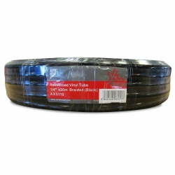 "1/4"" Black Reinforced Vinyl Tube 30M"